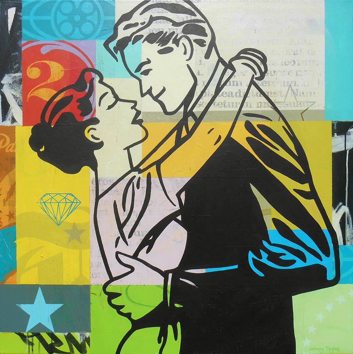 Pop art couple artwork by Johnny Taylor