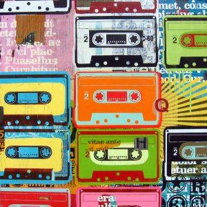 retro 80's cassettes artwork