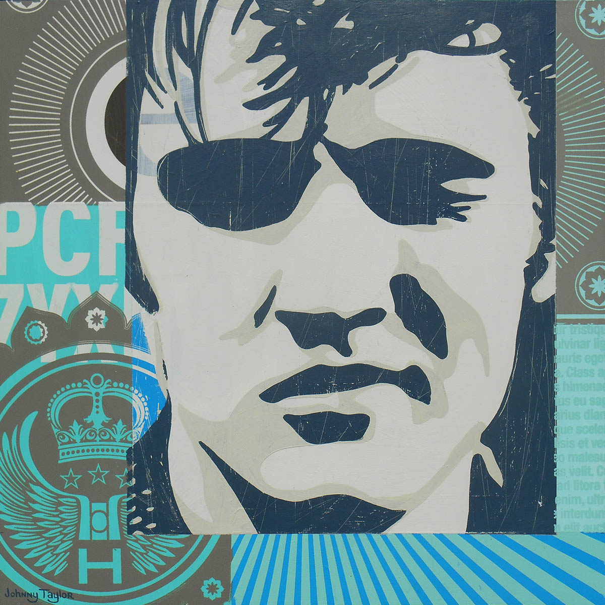 Pop Art portrait of Elvis Presley by Johnny Taylor