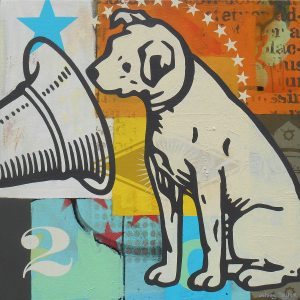 painting of RCA dog by Johnny Taylor