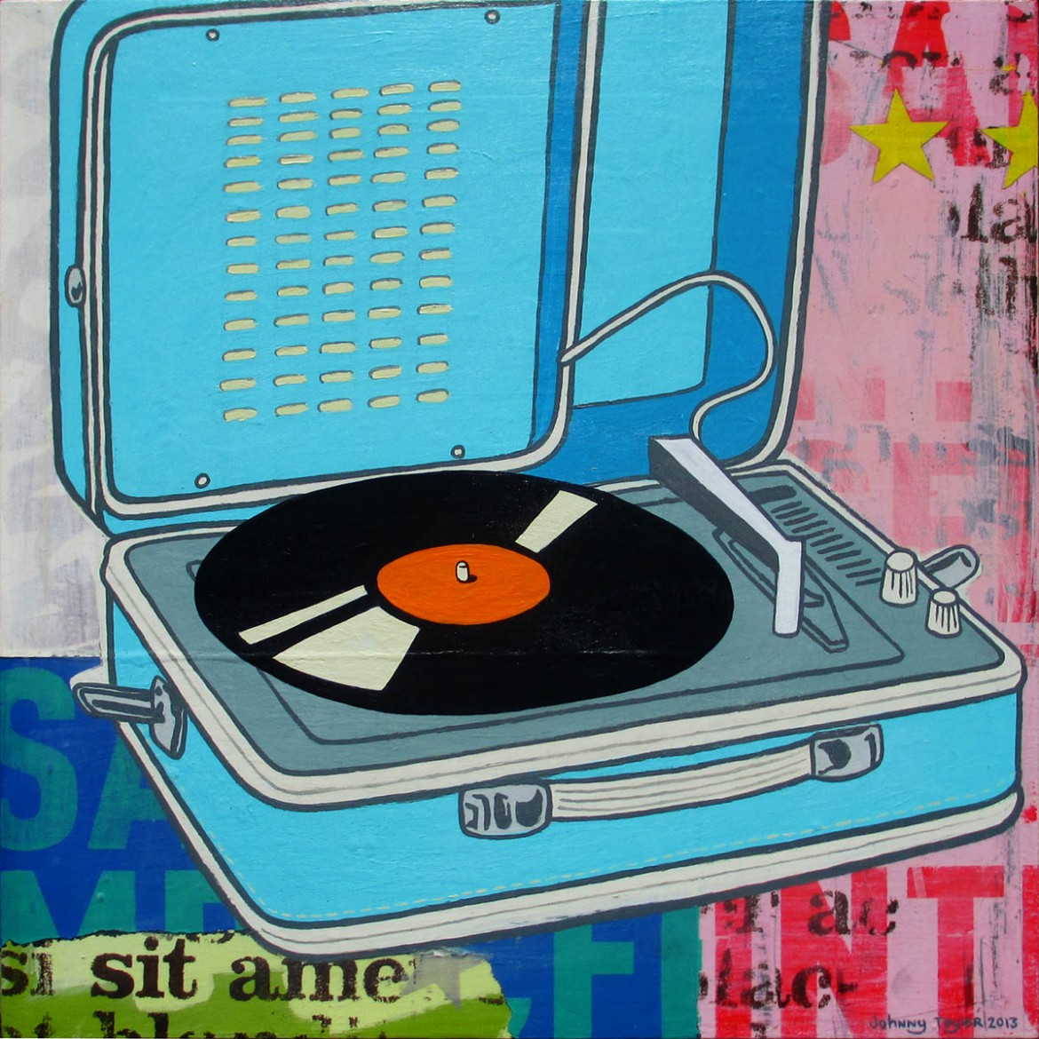 Pop Art turntable painting by Johnny Taylor