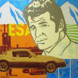 Pop Art depicting James Garner as TV's Jim Rockford