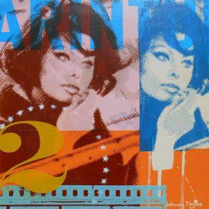 Pop Art portrait of Sophia Loren by Johnny Taylor