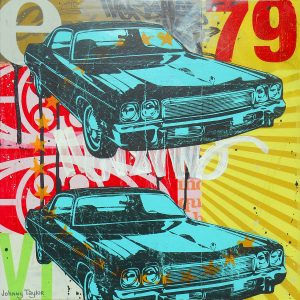 Vintage 70's cars painting by Johnny Taylor