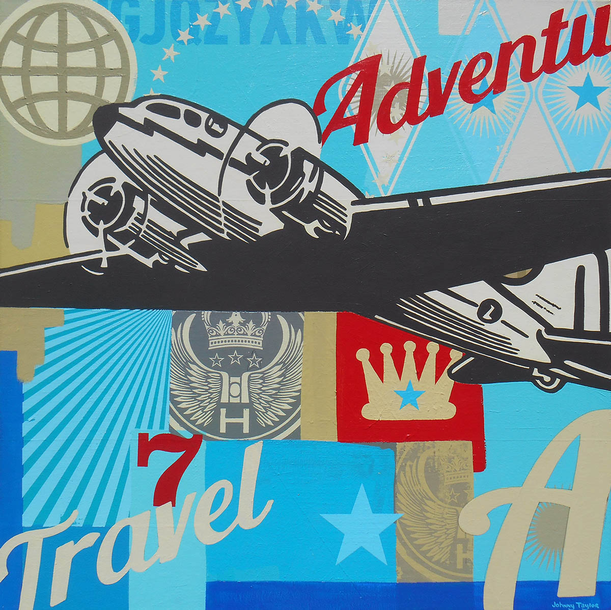 Retro aviation artwork