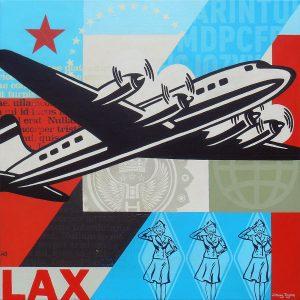Vintage airplane art