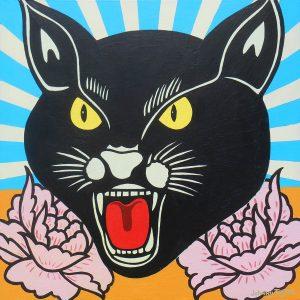 Black Cat fireworks pop art by Johnny Taylor