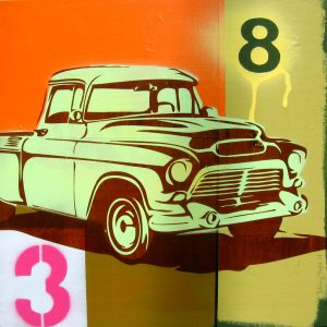 vintage truck pop art