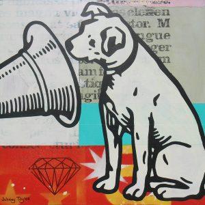 RCA dog Pop Art by Johnny Taylor