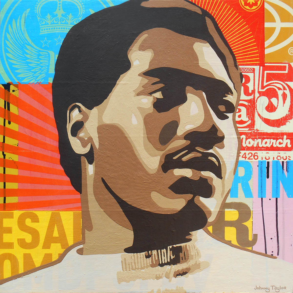 Otis Redding portrait by Johnny Taylor