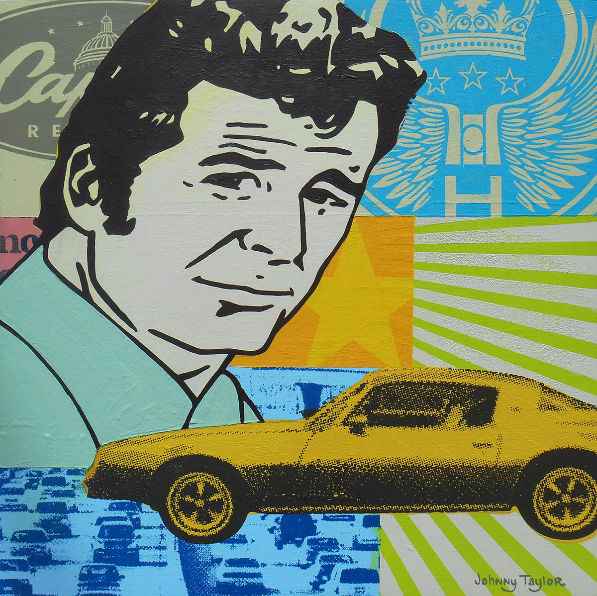 Jim Rockford painting by Johnny Taylor