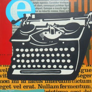 Vintage typewriter painting by Johnny Taylor