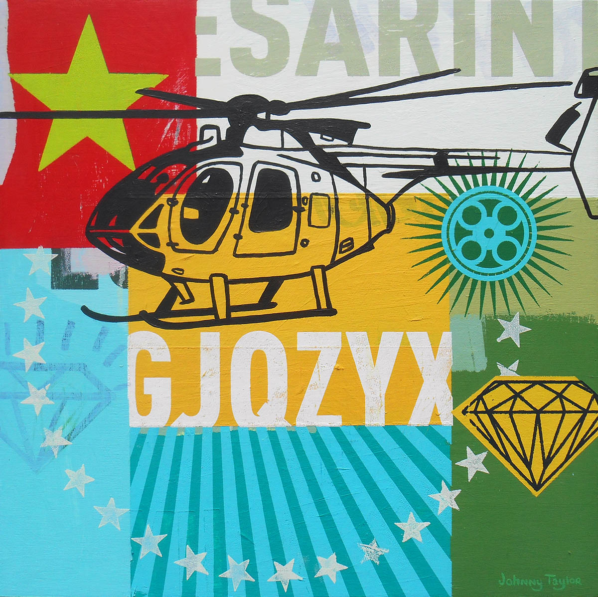 Helicopter pop art