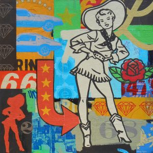 Cowgirl painting by Johnny Taylor