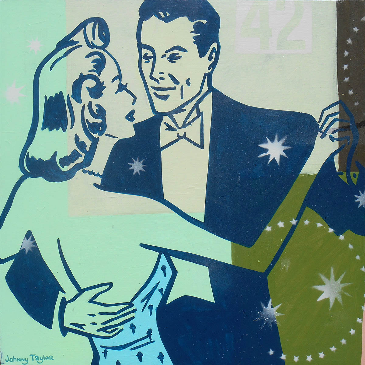 Dancing couple painting by Johnny Taylor
