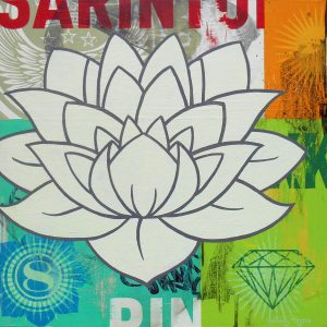 white lotus painting by johnny taylor